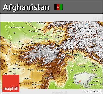 Free Physical D Map Of Afghanistan - Physical map of afghanistan
