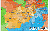 Political Shades 3D Map of Afghanistan