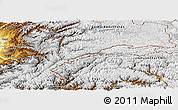 Physical Panoramic Map of Badakhshan