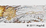 Satellite Panoramic Map of Badakhshan, physical outside
