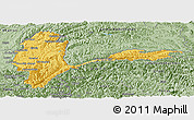 Savanna Style Panoramic Map of Badakhshan