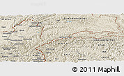 Shaded Relief Panoramic Map of Badakhshan