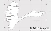 Silver Style Simple Map of Badakhshan, cropped outside