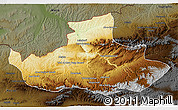 Physical 3D Map of Badghis, darken