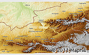 Physical 3D Map of Badghis