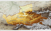 Physical 3D Map of Badghis, semi-desaturated