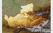 Physical Map of Badghis, darken