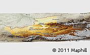 Physical Panoramic Map of Badghis, semi-desaturated