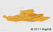 Political Panoramic Map of Badghis, cropped outside