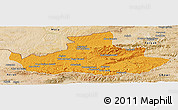 Political Panoramic Map of Badghis, satellite outside