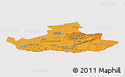 Political Panoramic Map of Badghis, single color outside
