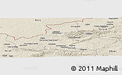Shaded Relief Panoramic Map of Badghis