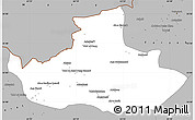 Gray Simple Map of Badghis