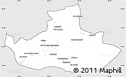 Silver Style Simple Map of Badghis, cropped outside