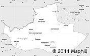Silver Style Simple Map of Badghis
