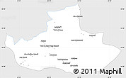 Silver Style Simple Map of Badghis, single color outside
