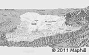Gray Panoramic Map of Baghian