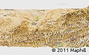 Satellite Panoramic Map of Baghian