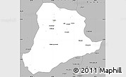 Gray Simple Map of Baghian