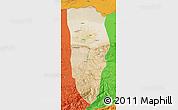 Satellite Map of Balkh, political outside