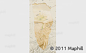 Satellite Map of Balkh, shaded relief outside