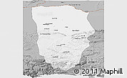 Gray Panoramic Map of Balkh