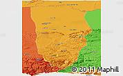 Political Panoramic Map of Balkh