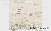 Shaded Relief Panoramic Map of Balkh