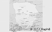 Silver Style Panoramic Map of Balkh