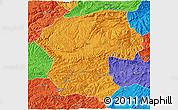 Political 3D Map of Bamian