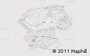 Silver Style 3D Map of Bamian, single color outside