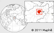 Blank Location Map of Bamian