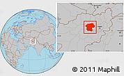 Gray Location Map of Bamian