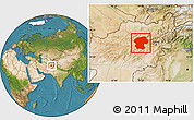 Satellite Location Map of Bamian