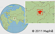 Savanna Style Location Map of Bamian