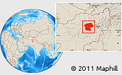 Shaded Relief Location Map of Bamian