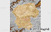 Satellite Map of Bamian, physical outside