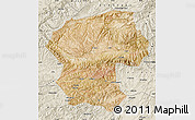 Satellite Map of Bamian, shaded relief outside