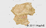 Satellite Map of Bamian, single color outside