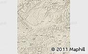 Shaded Relief Map of Bamian
