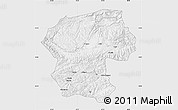 Silver Style Map of Bamian, single color outside
