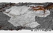 Physical Panoramic Map of Bamian, darken