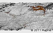 Physical Panoramic Map of Bamian, desaturated