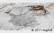 Physical Panoramic Map of Bamian, lighten