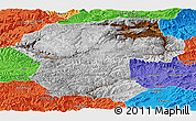 Physical Panoramic Map of Bamian, political outside