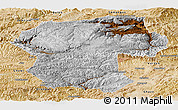 Physical Panoramic Map of Bamian, satellite outside