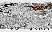Physical Panoramic Map of Bamian, semi-desaturated