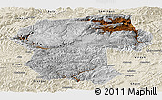 Physical Panoramic Map of Bamian, shaded relief outside