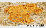 Political Panoramic Map of Bamian, satellite outside