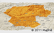 Political Panoramic Map of Bamian, shaded relief outside